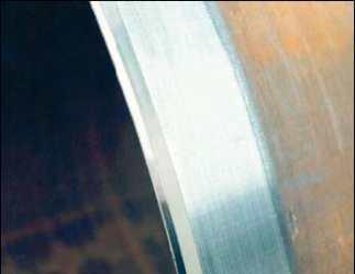 Фаска после обработки фаскорезом EV-PFM