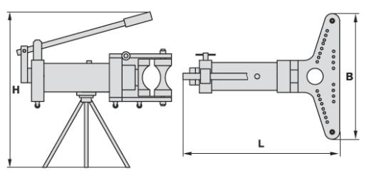 Трубогиб с закрытой рамой ТГ (схема)
